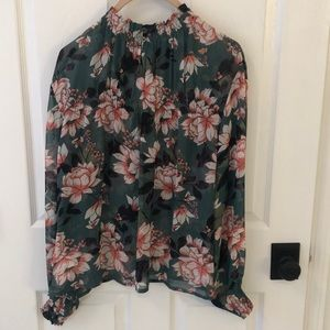 Part Two Tops - Part Two Sheer floral blouse size 34-fits 2/4